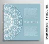 invitation or card template... | Shutterstock .eps vector #554830786