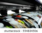 large printer format inkjet... | Shutterstock . vector #554834506