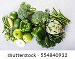 Variety Of Green Vegetables An...