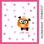 cute love panda | Shutterstock .eps vector #55484317