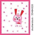 cute love bunny | Shutterstock .eps vector #55484320