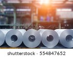steel plant rolled steel...   Shutterstock . vector #554847652