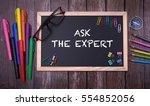 ask the expert | Shutterstock . vector #554852056