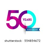fifty years anniversary... | Shutterstock .eps vector #554854672