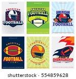 american football posters set...