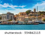 yachts anchored in port in... | Shutterstock . vector #554862115