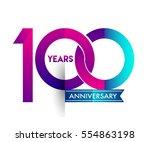100th years anniversary...   Shutterstock .eps vector #554863198