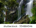 deep forest waterfall  khlong... | Shutterstock . vector #554884546
