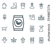 set of 16 planting icons.... | Shutterstock .eps vector #554887276