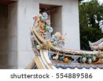 chinese arts in thailand temple.   Shutterstock . vector #554889586