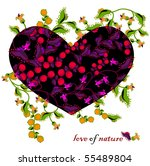 love of nature with flowers and ... | Shutterstock .eps vector #55489804