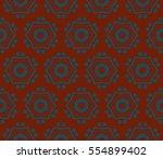 modern geometric seamless... | Shutterstock . vector #554899402