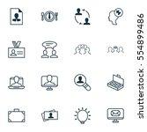 set of 16 business management... | Shutterstock . vector #554899486