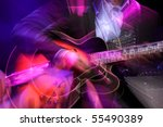 Abstract Zoomed Guitar And...