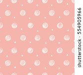 seamless pattern with polka... | Shutterstock .eps vector #554905966