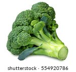 broccoli isolated on white... | Shutterstock . vector #554920786