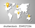vector map in the style of flat ... | Shutterstock .eps vector #554927236