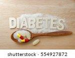 diabetes concept. alphabet with ... | Shutterstock . vector #554927872