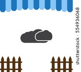 cloud icon vector flat design...