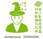 magic master pictograph with... | Shutterstock .eps vector #554944396