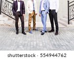 groom with best man and... | Shutterstock . vector #554944762