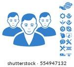 user group icon with bonus... | Shutterstock .eps vector #554947132