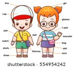 vector illustration of cartoon... | Shutterstock .eps vector #554954242
