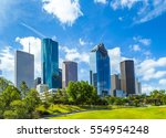 skyline of houston  texas in...   Shutterstock . vector #554954248