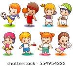 vector illustration of cartoon... | Shutterstock .eps vector #554954332