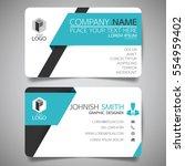 blue modern creative business...   Shutterstock .eps vector #554959402