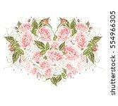 romantic illustrations for... | Shutterstock . vector #554966305