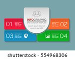 vector infographic template ... | Shutterstock .eps vector #554968306