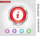 colored icon or button of info... | Shutterstock .eps vector #554973226