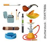 things for smoking realistic... | Shutterstock .eps vector #554979886
