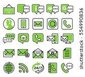 customer service icon set | Shutterstock .eps vector #554990836