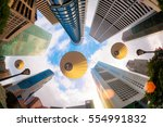 central business district in... | Shutterstock . vector #554991832