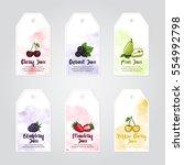 vector template of cherry ... | Shutterstock .eps vector #554992798