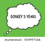 Donkey's Years Speech Thought...