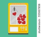 vector illustration heart... | Shutterstock .eps vector #555007858