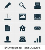 illustration of 12 web icons....