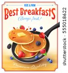 premium quality restaurant... | Shutterstock .eps vector #555018622