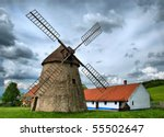 Vintage Windmil In Kuzelov ...