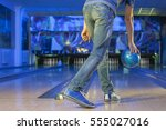 The Man Holding The Bowling...