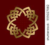 sacred geometric symbol of four ... | Shutterstock .eps vector #555027082