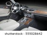 modern car interior | Shutterstock . vector #555028642