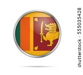 vector sri lankan flag button.... | Shutterstock .eps vector #555035428