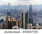 hong kong   | Shutterstock . vector #555037735