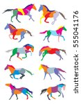 illustration with horse... | Shutterstock .eps vector #555041176