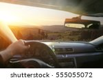 car interior and summer time  | Shutterstock . vector #555055072