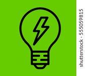 light bulb icon flat design